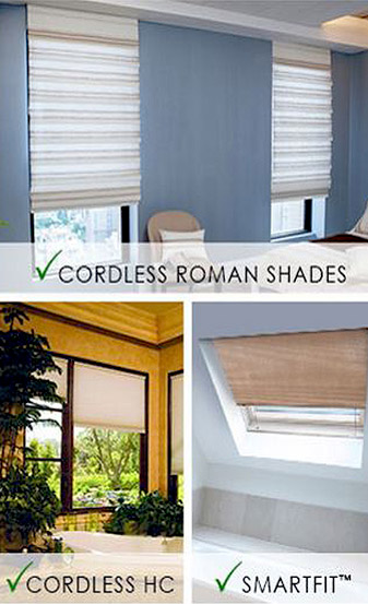 Oliver's Floor Covering carries a wide selection of Norman Window Fashions including Cordless Roman Shades, Cordless HC, and Smartfit™