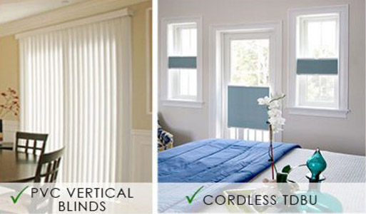 Oliver's Floor Covering carries a wide selection of Norman Window Fashions including PVC Vertical Blinds & Cordless TDBU