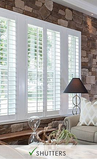 Oliver's Floor Covering carries a wide selection of Norman Window Fashions including shutters!