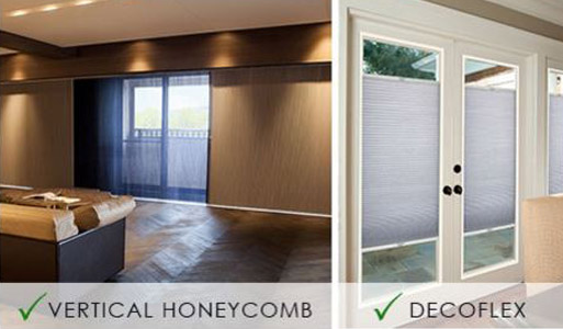 Oliver's Floor Covering carries a wide selection of Norman Window Fashions including Vertical Honeycomb & Decoflex